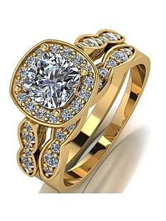 moissanite-moissanite-9ct-gold-175ct-eq-total-cushion-cut-centre-ring-set