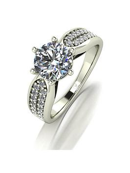Moissanite Moissanite Lady Lynsey 9Ct Gold 1.75Ct Total Round Brilliant  ... Picture