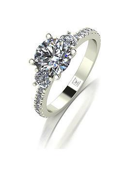 moissanite-premier-collection-9ct-gold-15ctnbspequivalent-trilogy-ring