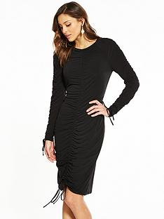 v-by-very-ity-ruched-bodycon-midi-dress-black