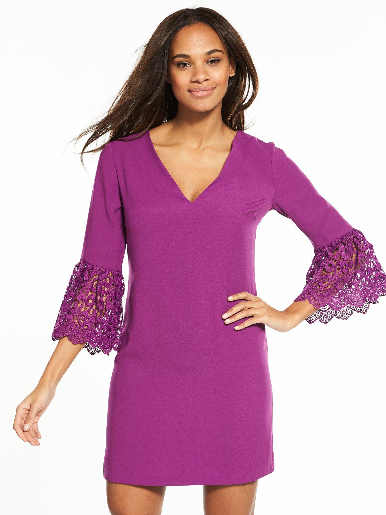 Very Lace Frill Sleeve Tunic, Women