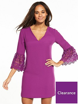 2f1531a8bf69b V by Very Lace Frill Sleeve Tunic | littlewoods.com