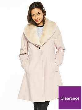 wallis-petite-fit-and-flare-coat