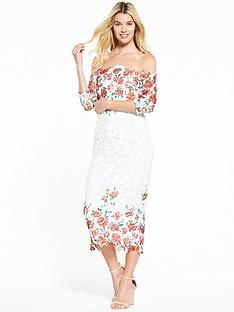v-by-very-printed-lace-bardot-pencil-dress