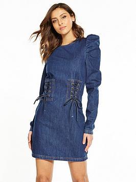 v-by-very-corset-denim-dress