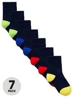 mini-v-by-very-boys-7-pack-colour-heel-and-toe-socks-multi