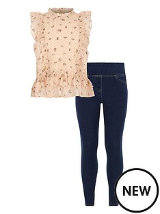 river-island-girls-louisa-frill-shirt-and-denim-twill-legging-outfit