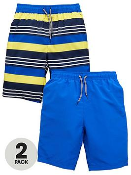 v-by-very-boys-2-pack-of-board-shorts-yellowblue