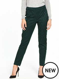 wallis-jacquard-trouser-green