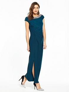 wallis-moon-trim-maxi-dress
