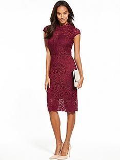 phase-eight-lace-dress-claret