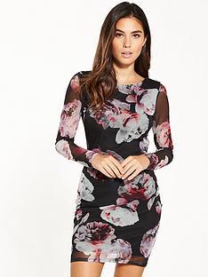 miss-selfridge-printed-mesh-dress