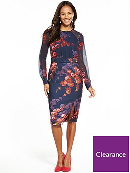 phase-eight-callie-woven-floral-dress-midnight