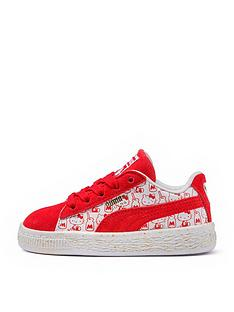 puma-puma-suede-classic-hello-kitty-childrens-trainer