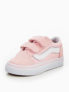 5e47edd8727fbd Vans TD Old Skool V Infant Trainer - Pink