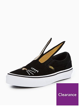 vans-uy-slip-on-bunny-children-trainers-black