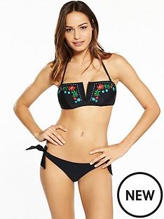 south-beach-bandeau-bikini-with-floral-embroiderynbspdetail-and-sash-brief-black