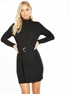 v-by-very-ribbed-d-ring-belted-jersey-dress