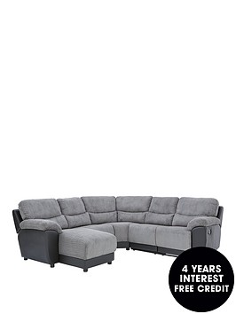 sienna-fabricfaux-leather-left-hand-manual-recliner-corner-chaise-sofa