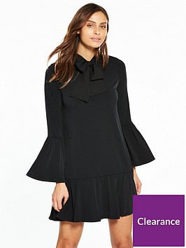 v-by-very-pussybow-jersey-swing-dress-black