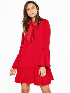 v-by-very-pussybow-jersey-swing-dress