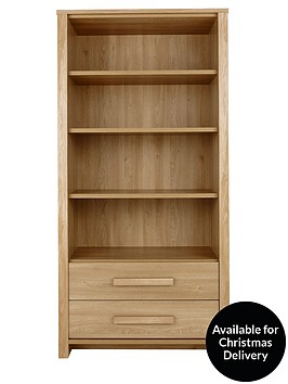 consort-tuscany-ready-assembled-large-bookcase