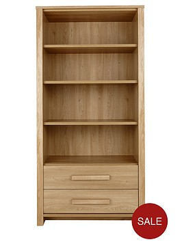 consort-tuscany-ready-assembled-large-bookcase