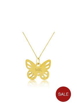 keepsafe-sterling-silver-yellow-rhodium-personalised-butterfly-pendant-with-cubic-zirconia