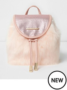 river-island-river-island-girls-tinsel-faux-fur-star-backpack