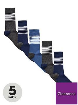 v-by-very-5-pk-blue-striped-socks