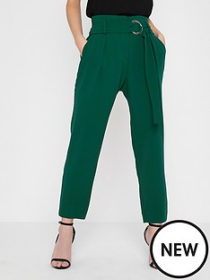 ri-petite-ri-petite-tapered-trousers--green