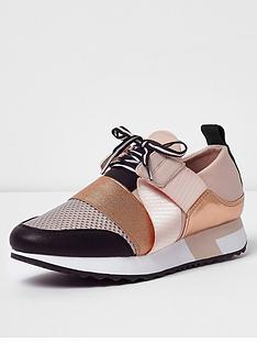 river-island-river-island-alexander-lace-up-runner-trainer-rose-gold