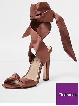 river-island-blush-satin-tie-up-sandals