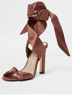 river-island-river-island-wanda-blush-satin-tie-up-sandals
