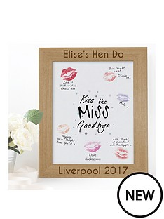 hen-do-039kiss-the-miss-goodbye039-picture-frame