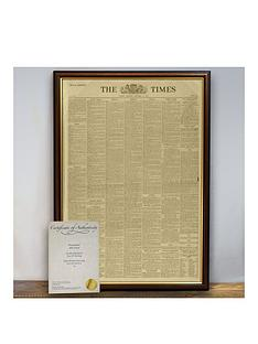 personalised-newspaper-in-a-frame