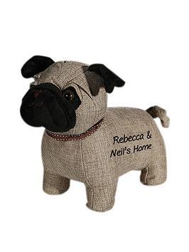 Very Personalised Pug Door Stop Picture