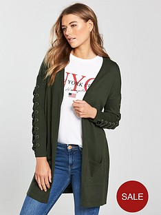 v-by-very-eyelet-lace-up-sleeve-cardigan-khaki