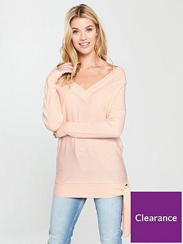 v-by-very-tie-hem-rib-sleeve-tunic-blushing-pinknbsp