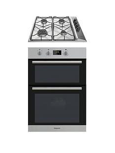 hotpoint-dd2540ixnbsp60cm-built-in-double-electric-oven-and-pan642ixnbspgas-hob-with-flame-safety-device-stainless-steelblack