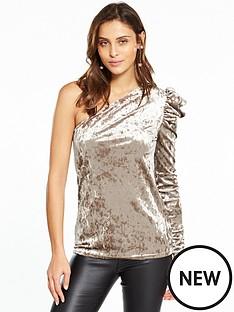 v-by-very-one-shoulder-velvet-top