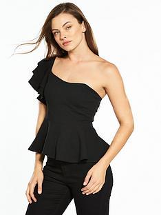 v-by-very-peplum-one-shoulder-top-black