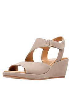 3ffbe54135a3 Clarks Un Plaza Sling Asymmetric Sandals - Grey