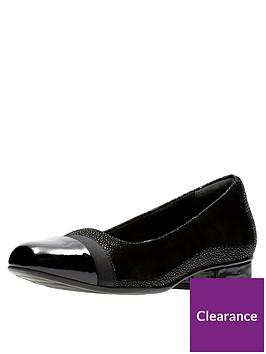 a2e8e397b9 Clarks Keesha Rosa Wide Fit Ballerina Shoe - Black | littlewoods.com