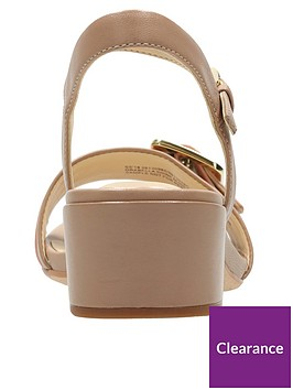 a895d5cef9a0 ... Clarks Orabella Shine Buckle Low Heel Sandal - Nude. View larger