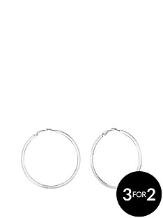 guess-guess-silver-plated-large-branded-hoop-earring