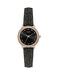 guess-guess-chelsea-black-glitter-dial-and-strap-ladies-watch