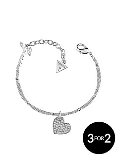 guess-guess-silver-plate-crystal-set-heart-bracelet
