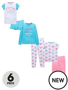 v-by-very-6-piece-mermaid-pj-set