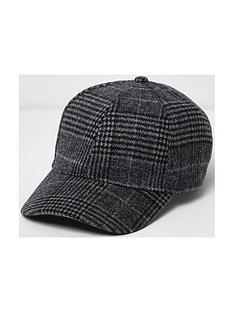 river-island-mens-check-baseball-cap